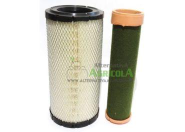 Kit juego filtros aire interior y exterior diferentes marcas y modelos de tractor