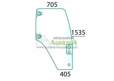Cristal Puerta Derecha Convexo Grupo CNH 7 Agujeros Tintados